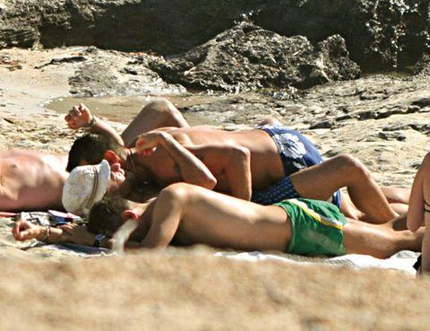 Human leg, Barechested, Sun tanning, Summer, Undergarment, Swimwear, Abdomen, Muscle, Thigh, Briefs,