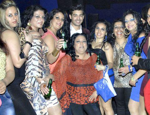 Smile, Social group, Party, Friendship, Fashion accessory, Necklace, Body jewelry, Cocktail dress, Day dress, Bracelet,