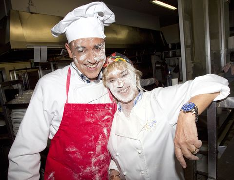 Smile, Cook, Chef, Shelf, Watch, Wrist, Service, Uniform, Cooking, Chef's uniform,
