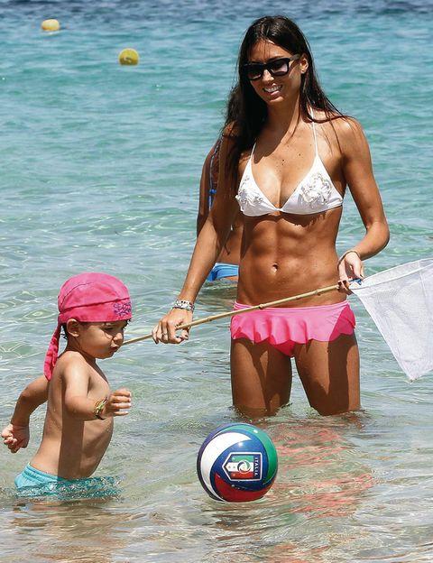 Fun, Ball, Brassiere, Sports equipment, Summer, Ball game, Playing sports, Chest, Team sport, Swimwear,