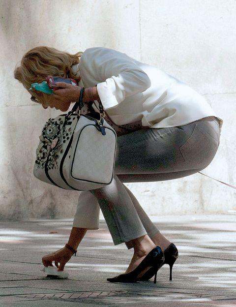 Footwear, Human leg, Joint, Bag, Street fashion, Sandal, High heels, Fashion, Knee, Luggage and bags,