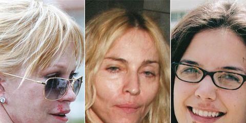 Eyewear, Glasses, Vision care, Lip, Cheek, Earrings, Hairstyle, Skin, Chin, Forehead,
