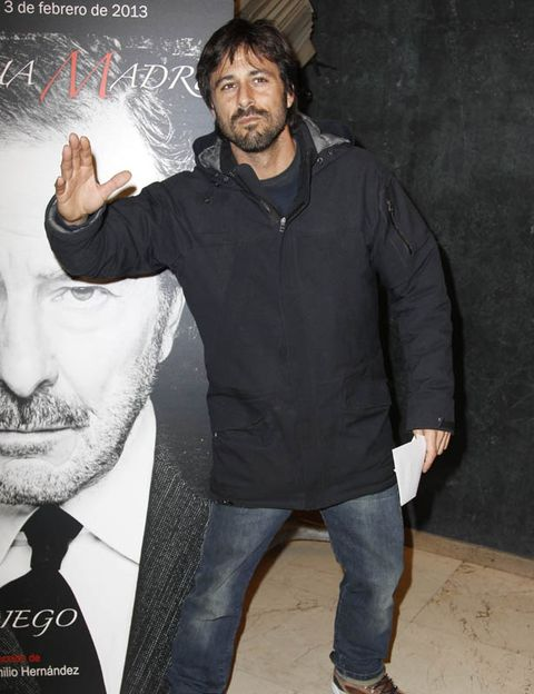 Sleeve, Trousers, Denim, Jeans, Forehead, Facial hair, Jacket, Textile, Standing, Outerwear,