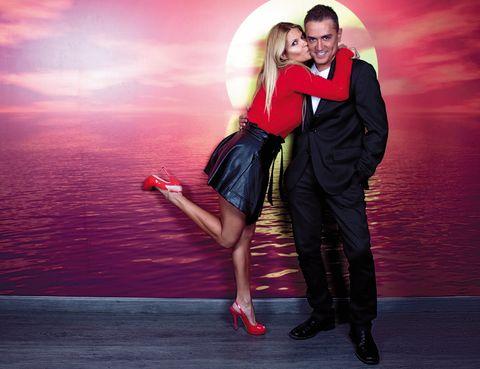 Red, Interaction, Romance, Love, High heels, Flash photography, Salsa, Sandal, Honeymoon, Dance,