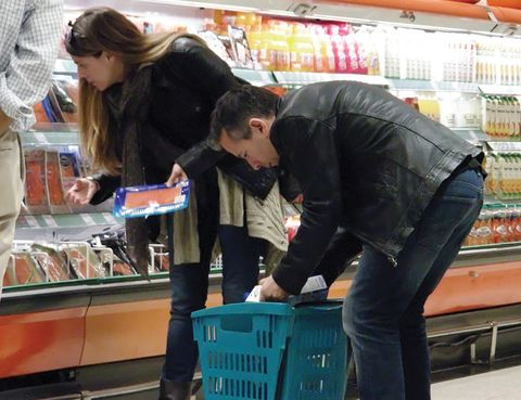 Denim, Jeans, Jacket, Interaction, Service, Customer, Retail, Shopping, Bag, Shopping cart,