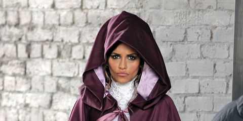 Wrap, Purple, Maroon, Street fashion, Shawl, Stole, Brick, Hood,