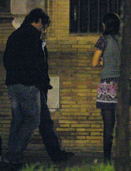 Leg, Standing, Interaction, Denim, Black hair, Snapshot, Back, Hip,