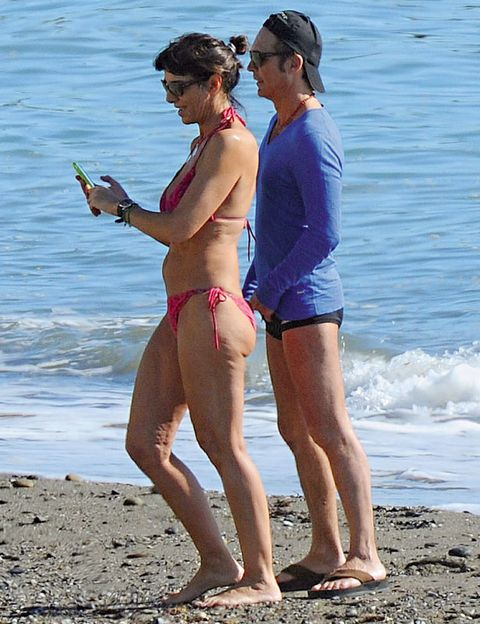 Clothing, Brassiere, Human leg, Summer, Swimwear, Beach, Vacation, Undergarment, People on beach, Shore,