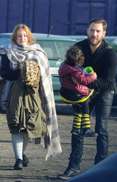 Human, Interaction, Street fashion, Stuffed toy, Bag, Beard, Boot, Love, Fur, Handbag,