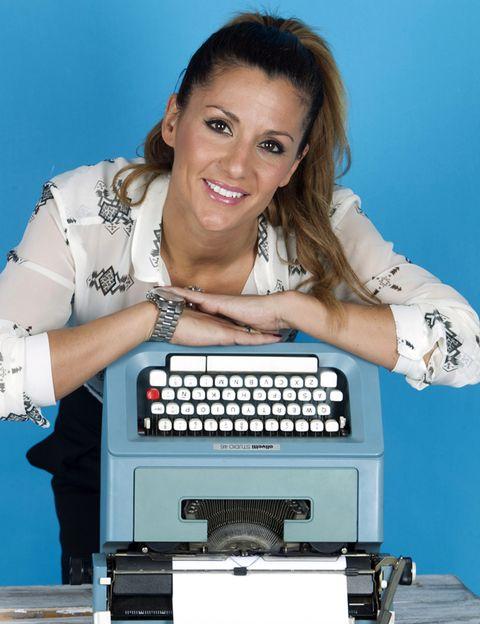 Typewriter, Office equipment, Office supplies, Space bar, Wrist, Machine, Eyelash, Teal, Bracelet, Earrings,