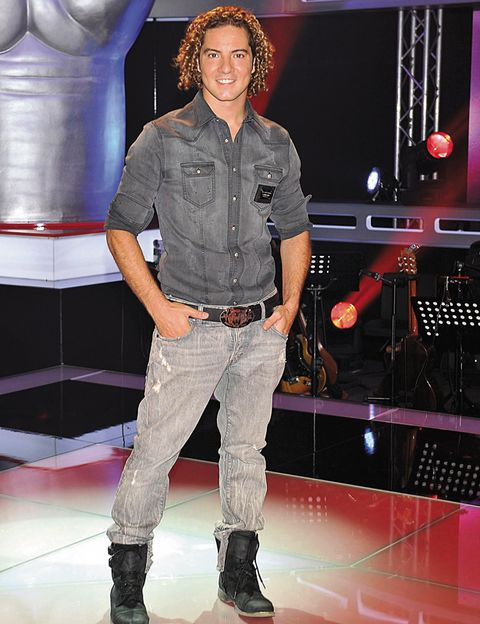 Sleeve, Dress shirt, Denim, Shirt, Boot, Pocket, Belt, Fashion model, Fashion design, Button,