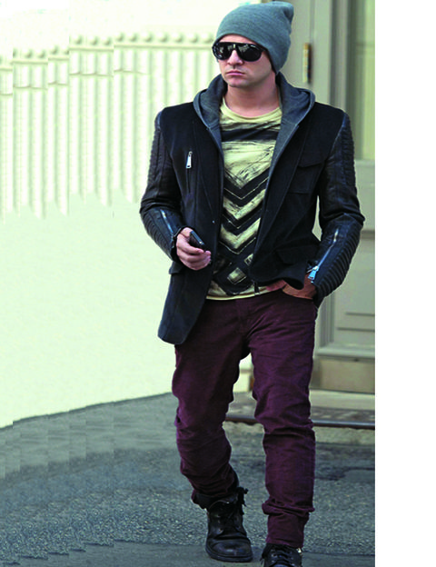 Clothing, Glasses, Sleeve, Human body, Trousers, Cap, Sunglasses, Textile, Jacket, Standing,
