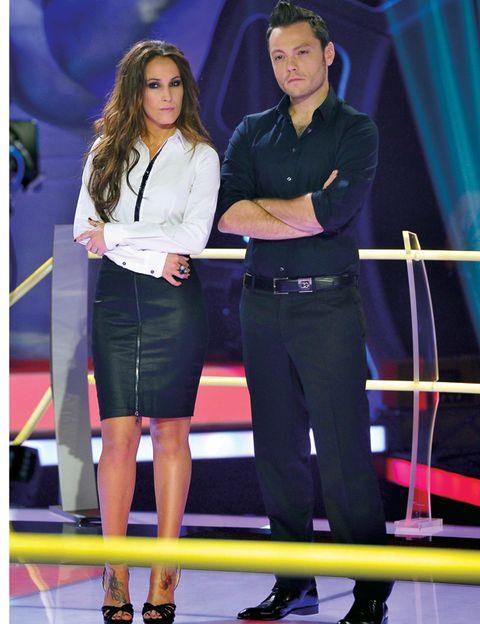 Uniform, Belt, Stage, Fashion design, Suit trousers, Pencil skirt, Curtain,