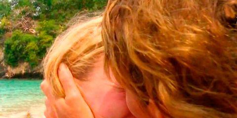 Hair, Blond, Nose, Lip, Mouth, Surfer hair, Ear, Fun, Summer, Neck,
