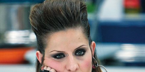 Hairstyle, Tattoo, Skin, Shoulder, Eyelash, Style, Elbow, Jewellery, Temporary tattoo, Eye shadow,