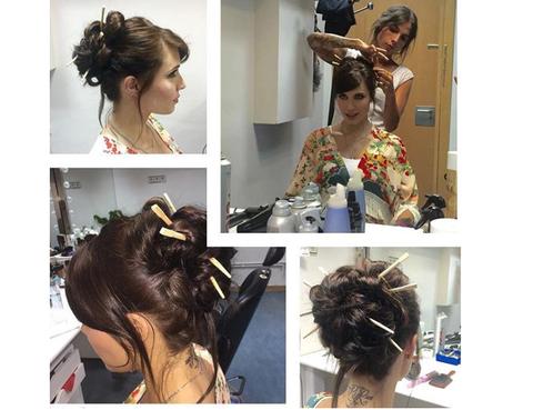 Hair, Head, Ear, Hairstyle, Hair accessory, Fashion accessory, Style, Hat, Beauty, Long hair,