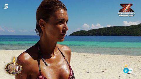 Body of water, Fun, Coastal and oceanic landforms, Hairstyle, Brassiere, Swimwear, Beach, Summer, Ocean, Beauty,