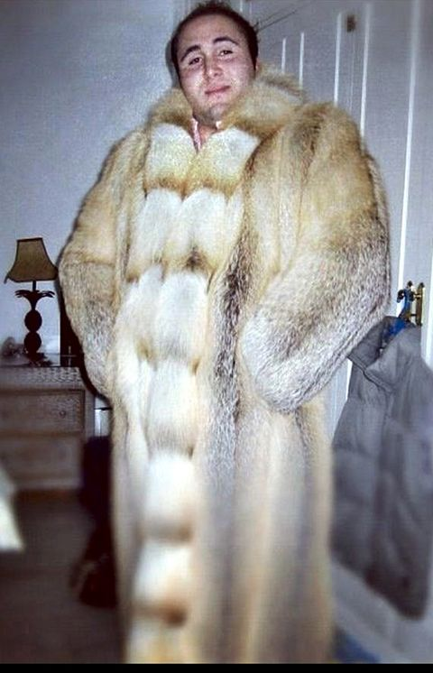 Fur clothing, Textile, Natural material, Jacket, Animal product, Fashion, Fur, Beige, Street fashion, Overcoat,