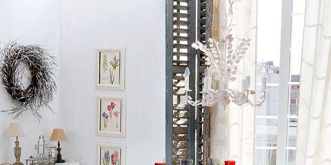 Room, Interior design, White, Tablecloth, Furniture, Floor, Linens, Interior design, Petal, Home,