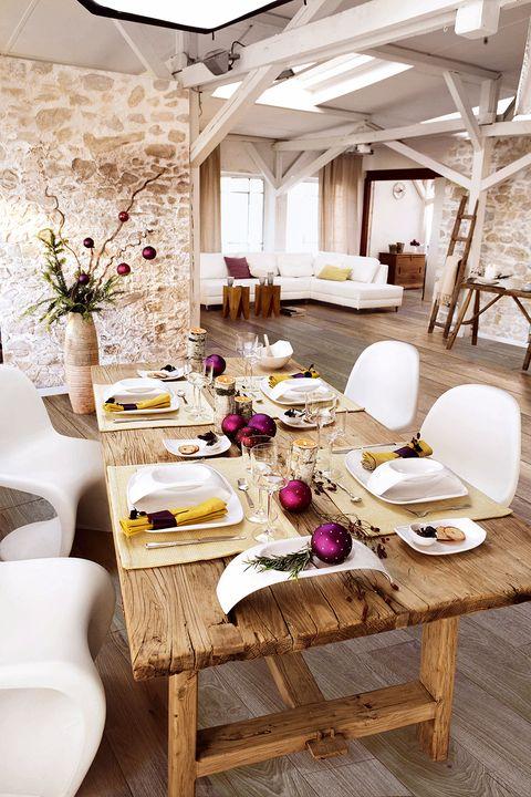 Room, Interior design, Table, Furniture, Ceiling, Dishware, Interior design, Home, Linens, Dining room,