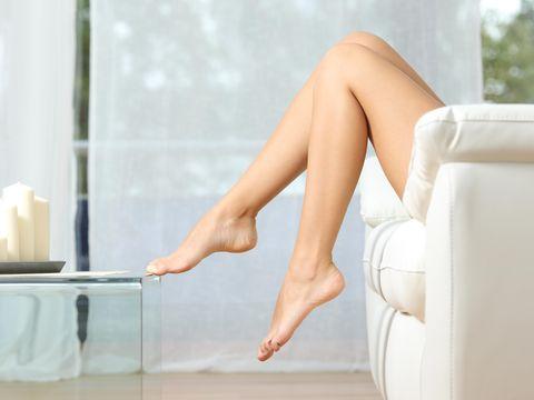 Human leg, Leg, Skin, Beauty, Thigh, Sitting, Joint, Foot, Footwear, Arm,
