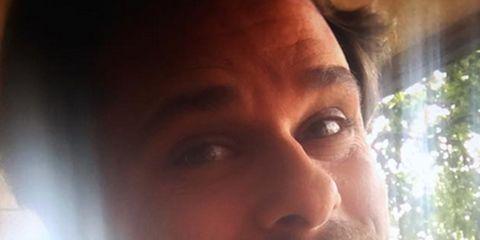 Lip, Cheek, Skin, Chin, Forehead, Collar, Eyebrow, Facial hair, Selfie, Facial expression,