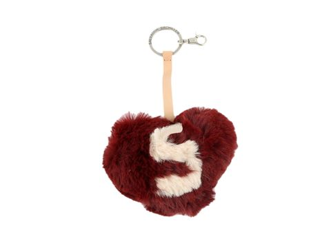 Toy, Carmine, Coquelicot, Costume accessory, Fur, Maroon, Chain, Symbol, Keychain, Body jewelry,