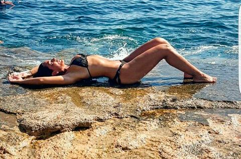 Human leg, Swimwear, Summer, Brassiere, Thigh, Bikini, Undergarment, Sun tanning, Beauty, Lingerie,