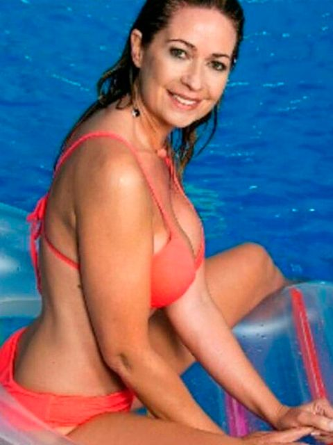 Clothing, Fun, Hairstyle, Photograph, Leisure, Swimming pool, Facial expression, Summer, Chest, Black hair,