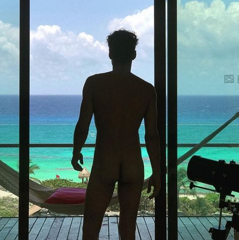 Standing, Ocean, Summer, Vacation, Muscle, Barechested, Cumulus, Sea, Chest, Camera,