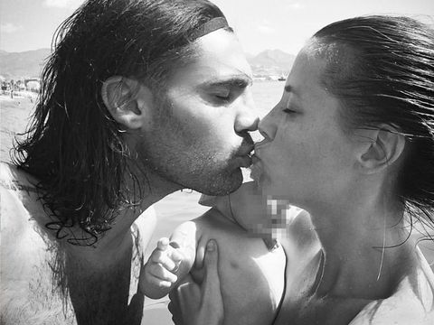 Photograph, Kiss, Love, Nose, Interaction, Romance, Lip, Gesture, Forehead, Black-and-white,