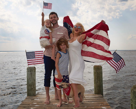 Flag, Fun, Human body, Tourism, People on beach, Flag of the united states, People in nature, Summer, Holiday, Dress,
