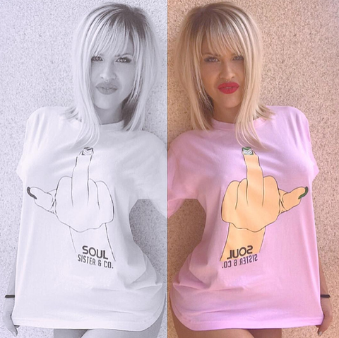 White, Pink, Clothing, Blond, Yellow, Shoulder, Lip, Outerwear, Hoodie, T-shirt,
