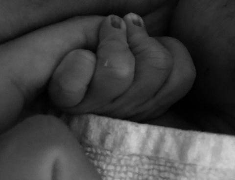 Finger, Skin, Hand, Leg, Foot, Close-up, Nose, Black-and-white, Nail, Child,