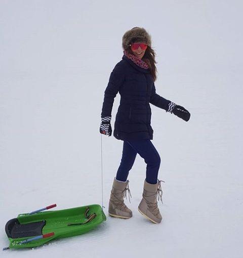 Snow, Recreation, Footwear, Winter, Ski pole, Winter sport, Ski, Sports equipment, Ski Equipment,