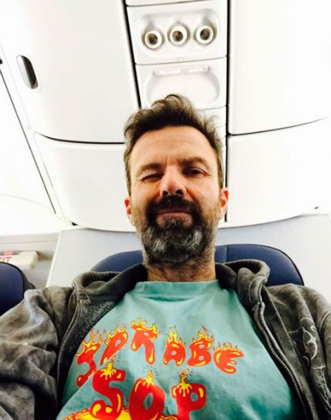 Facial hair, Beard, Moustache, Jaw, Cool, Jacket, Aerospace engineering, Selfie, Air travel, Airline,