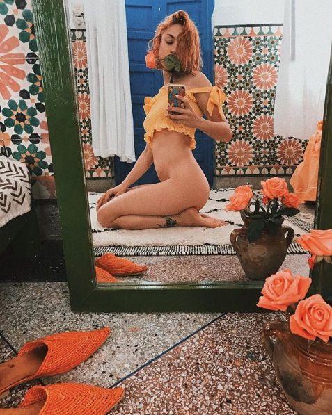Petal, Lion, Orange, Flowerpot, Peach, Interior design, Rose family, Stomach, Blond, Long hair,
