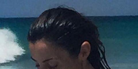 Hair, Bikini, Sun tanning, Summer, Vacation, Swimwear, Muscle, Chest, Black hair, Barechested,