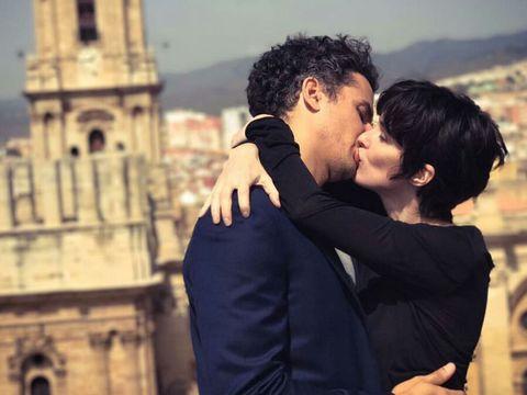 Romance, Photograph, Love, Honeymoon, Interaction, Forehead, Hug, Photography, Kiss, Happy,
