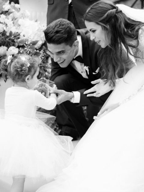 Photograph, Black-and-white, Bride, Ceremony, Wedding dress, Monochrome photography, Gown, Wedding, Dress, Event,