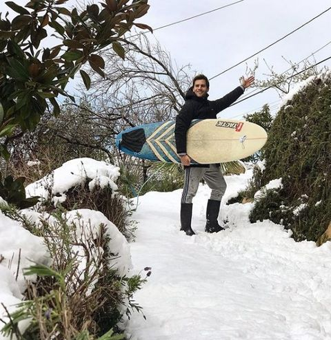 Surfboard, Winter, Surfing Equipment, People in nature, Snow, Boardsport, Surface water sports, Freezing, Adventure, Surfing,