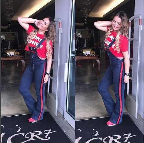 Leg, Trousers, Jeans, Denim, Textile, Red, Waist, Magenta, Fashion, Street fashion,