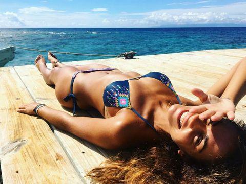 Sun tanning, Bikini, Swimwear, Beauty, Summer, Vacation, Beach, Lingerie, Swimsuit top, Sea,
