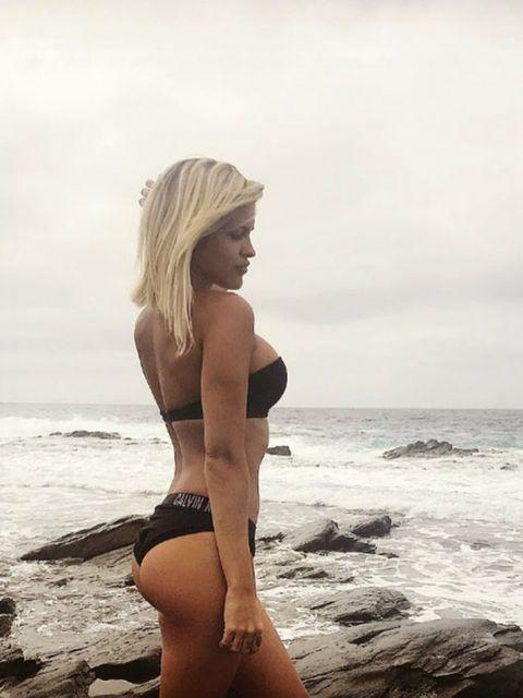 Bikini, Photograph, Clothing, Beauty, Model, Swimwear, Beach, Photo shoot, Blond, Leg,