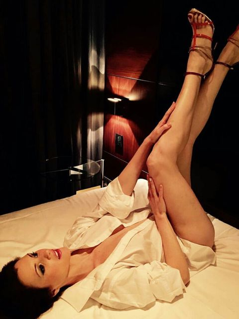 Leg, Human leg, Beauty, Thigh, Fetish model, Human body, Flesh, Black hair, Hand, Agent provocateur,