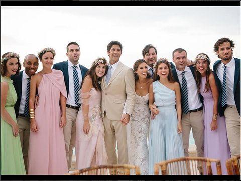 People, Trousers, Coat, Photograph, Dress, Happy, Formal wear, Suit, Tie, Ceremony,