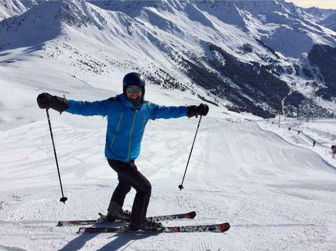 Recreation, Winter sport, Sports equipment, Skier, Slope, Snow, Outerwear, Ski pole, Ski Equipment, Winter,