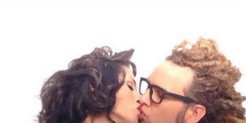 Kiss, Romance, Interaction, Love, Beauty, Navel, Fashion, Undergarment, Abdomen, Waist,