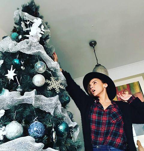 Plaid, Tartan, Christmas decoration, Christmas ornament, Winter, Holiday, Costume accessory, Interior design, Christmas tree, Holiday ornament,