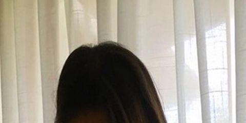 Brown, Hairstyle, Skin, Chin, Shoulder, Eyebrow, Interior design, Black hair, Jaw, Beauty,